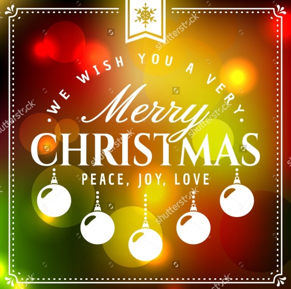 Typography Christmas Greeting Card