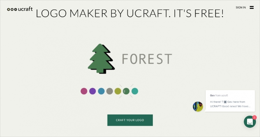 Ucraft- Craft Designs Online Logos