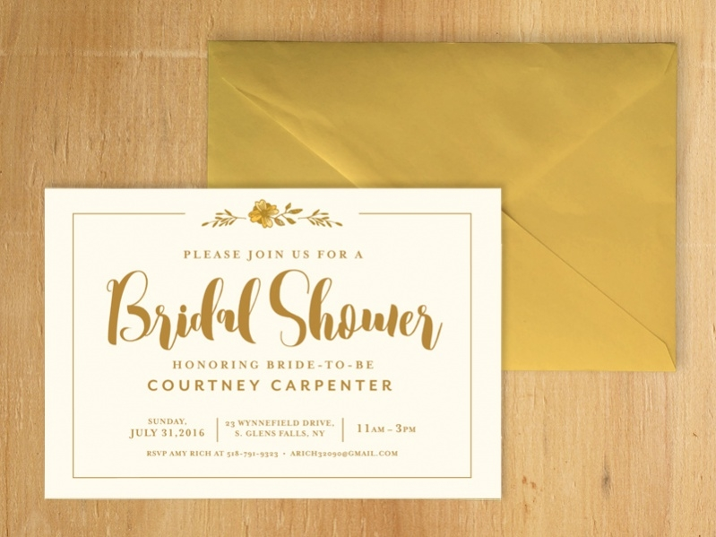 Unique Bridal Shower Invitation