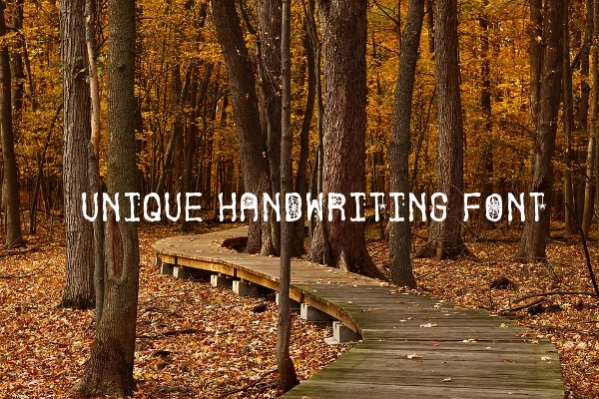 Unique Handwriting Font
