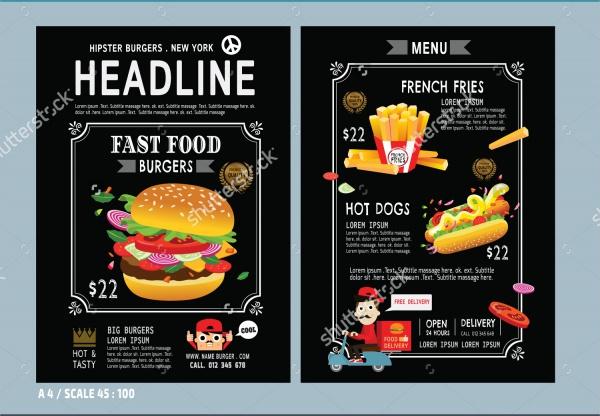 Vector Fast Food Flyer