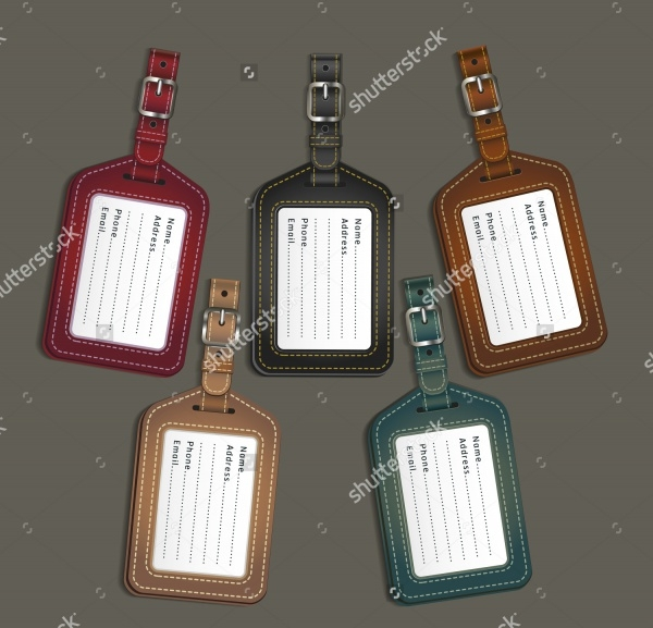 Vector Luggage Tag Design