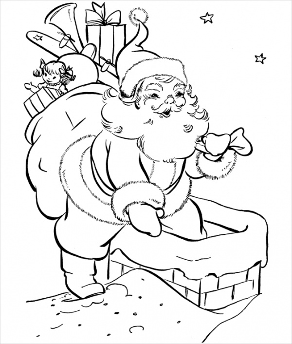 vintage christmas coloring pages ideas