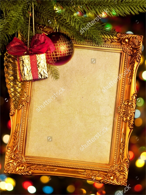 Vintage Christmas Frame Picture