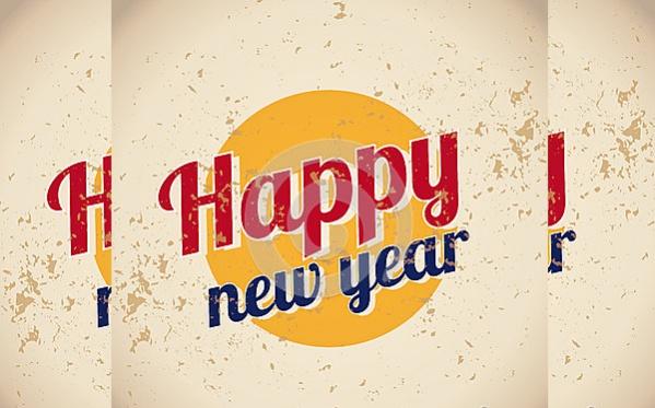 Vintage Happy New Year Image