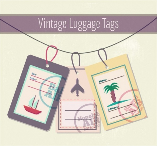 Vintage Luggage Tag