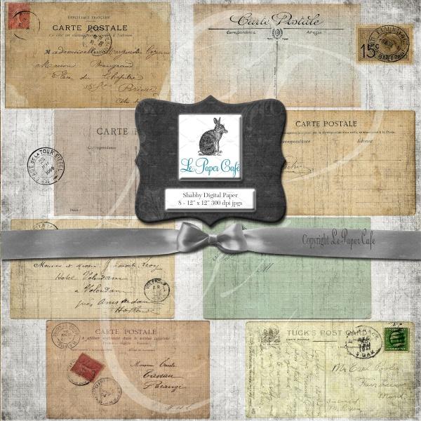 Vintage Postcard Paper Design