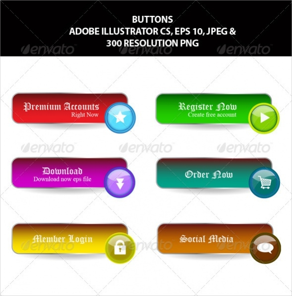 Vintage Style Web Buttons