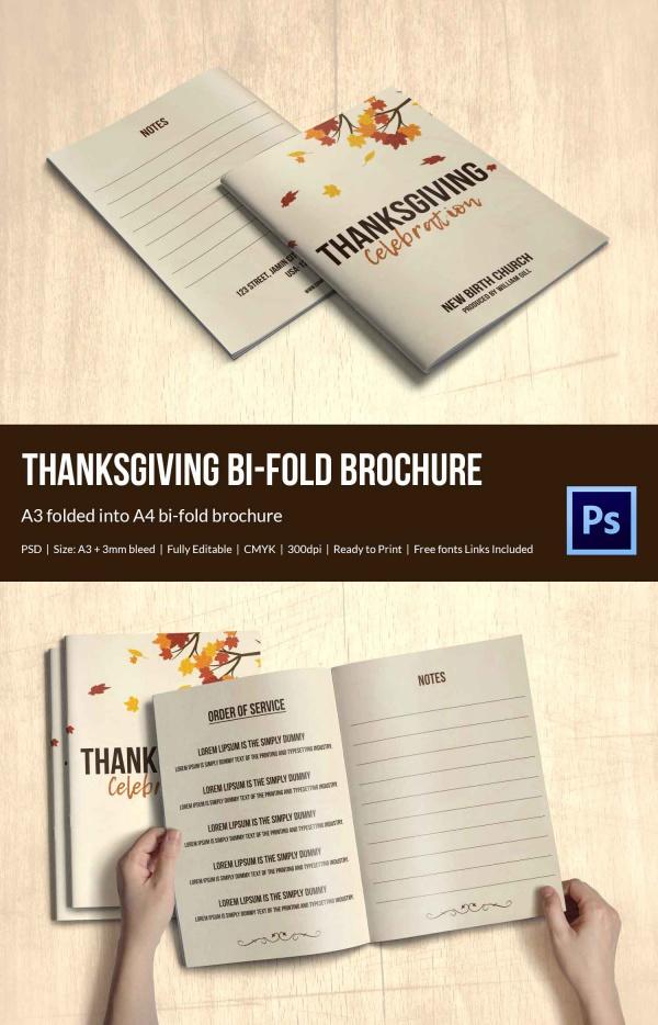 Vintage Thanksgiving Brochure