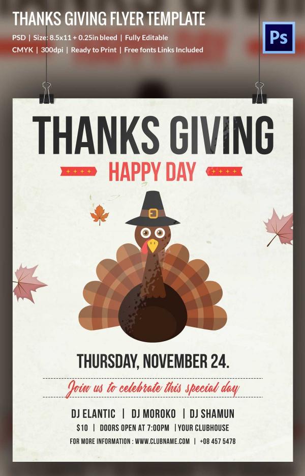 Vintge Thanksgiving flyer