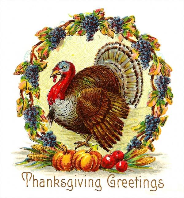 Vintage Thanksgiving Turkey Clipart