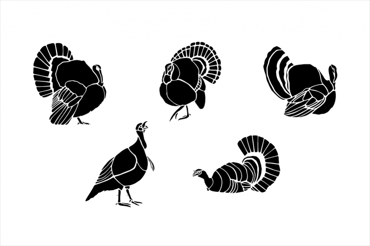 Vintage Turkey Clip Art