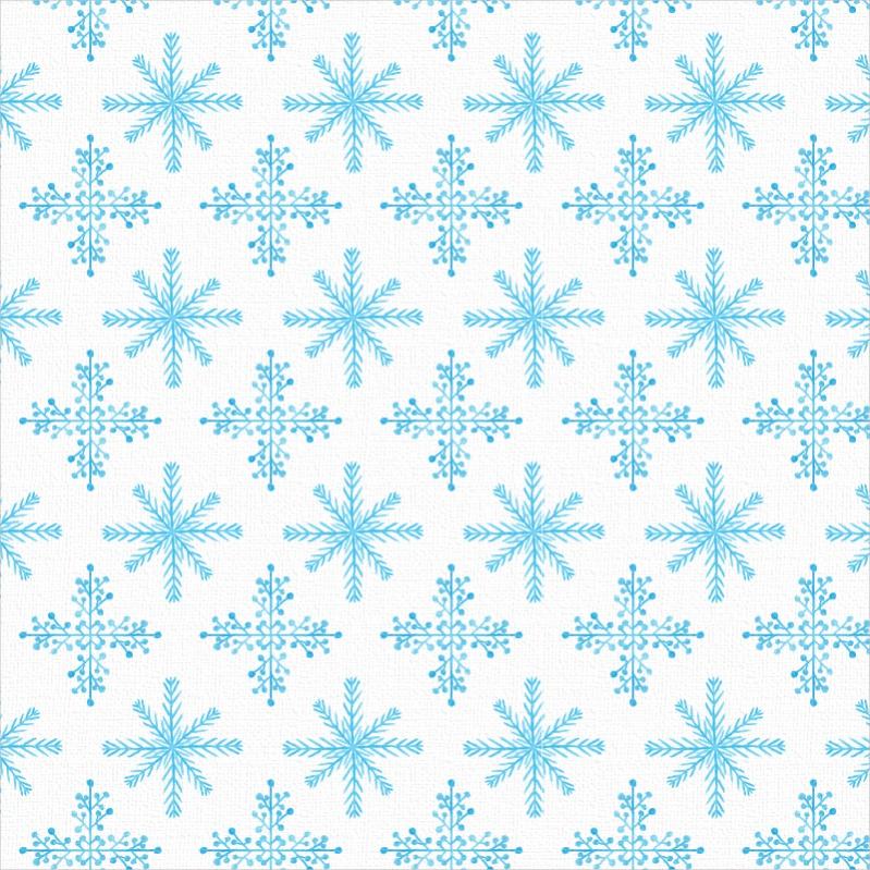 Watercolor Snowflake Pattern