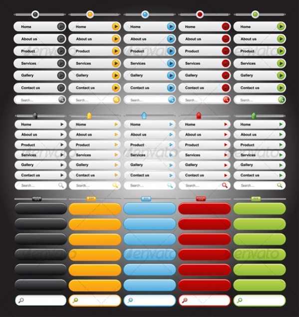 Web Photoshop Buttons