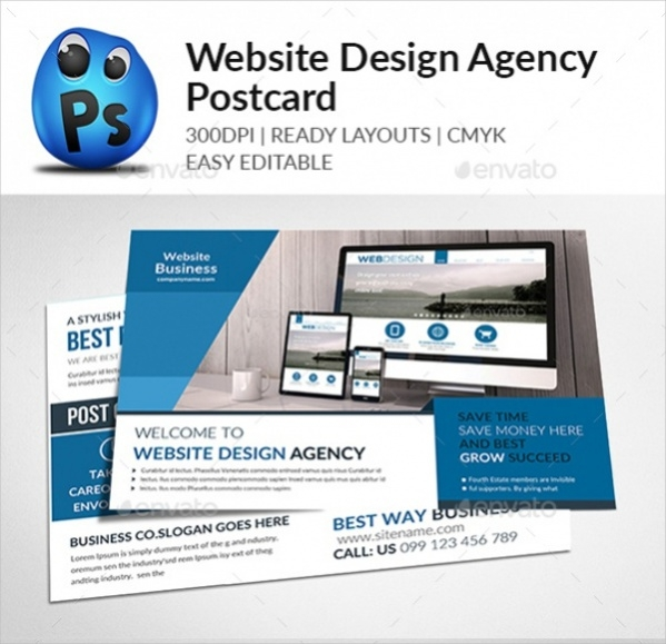 Website Design Agency Postcards