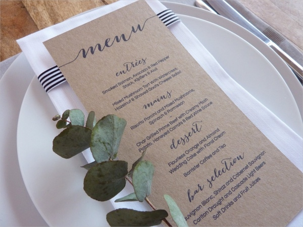Wedding Menu Design