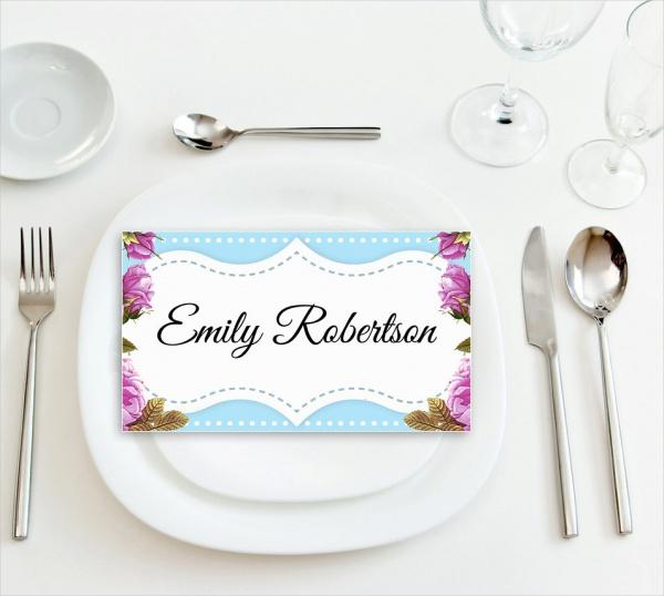 Wedding Name Tag