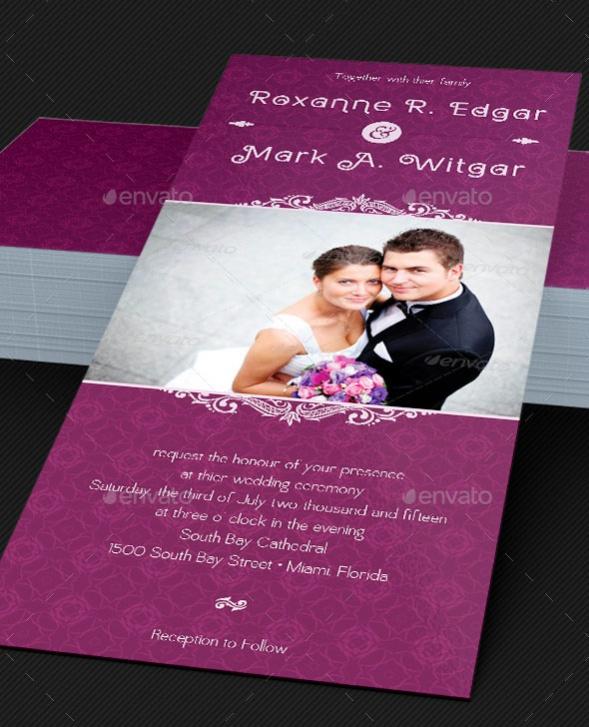 wedding reception invitation