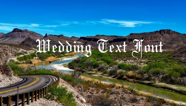 wedding text font
