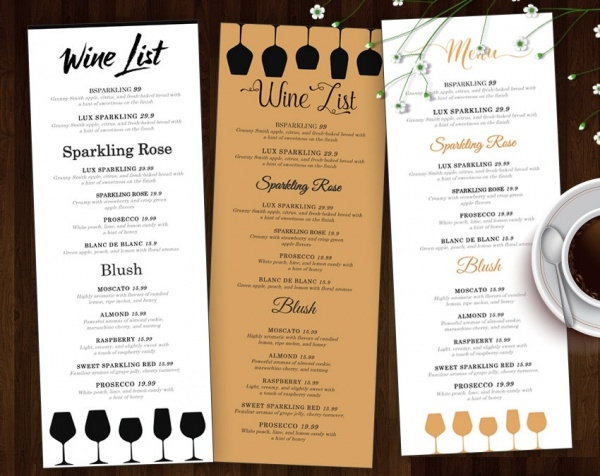 Wine Menu Design