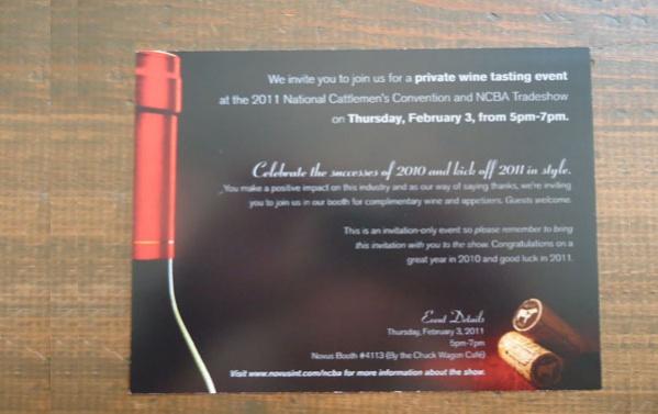 wine reception invitation design