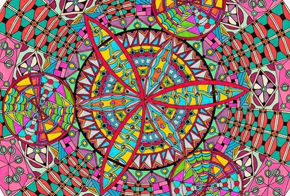 zentangle circle pattern