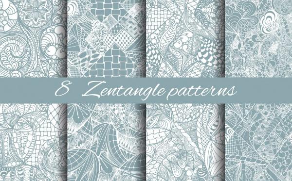 Zentangle Flower Pattern