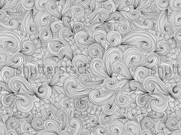 Zentangle Hand Drawn Pattern