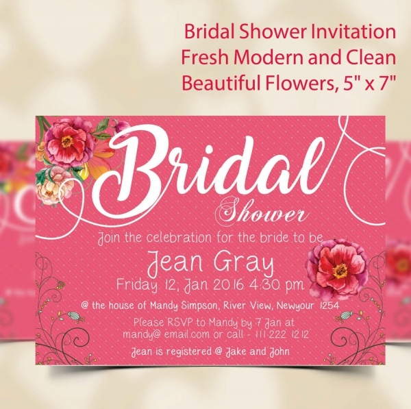 Wedding Bridal Shower Invitation Wording