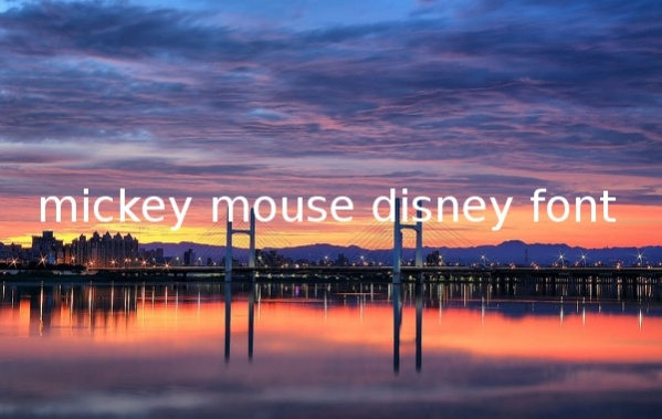 mickey-mouse-disney-font