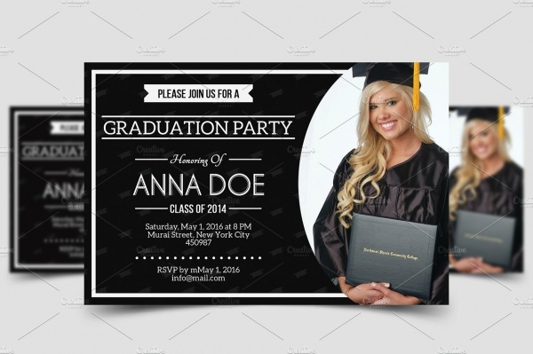 Girl Graduation Party Invitation