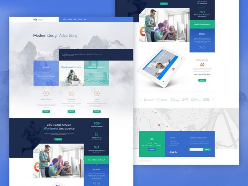 Free Modern Website Template