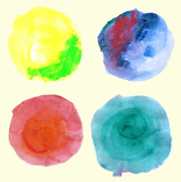 10 Watercolor Circle Textures