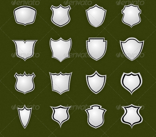 26 Vector Shield Shapes