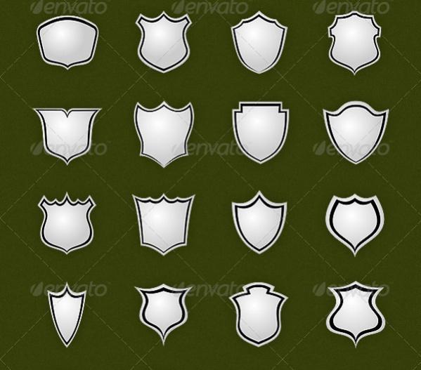 26 Vector Shield Shapes
