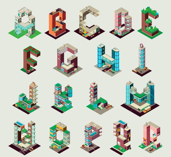 3D Building Letters