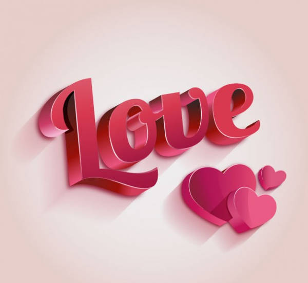 3D Love Lettering
