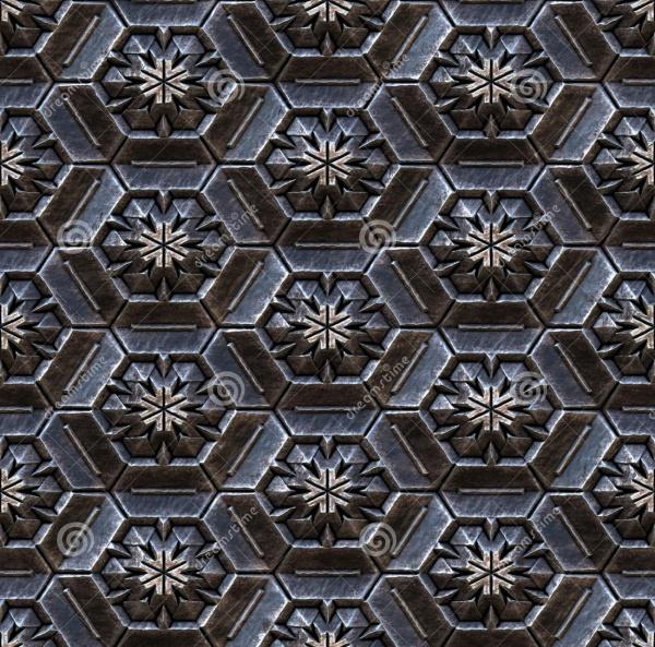 3D Metal Textures for Desktop