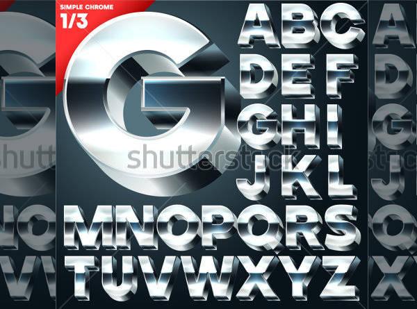 3D Simple Letters