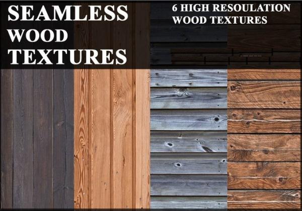 6 Seamless Wood Textures