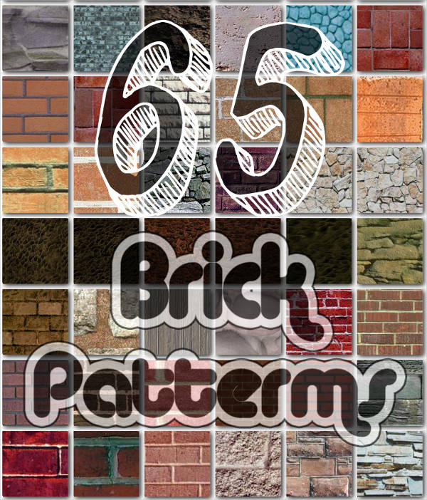 65 Brick Patterns for Photoshop