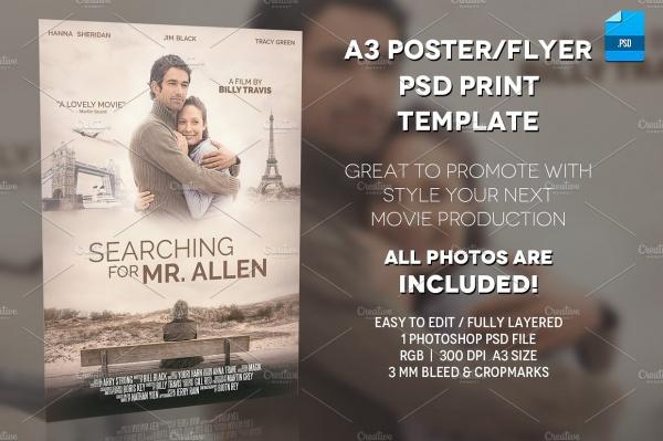 a3 movie poster print