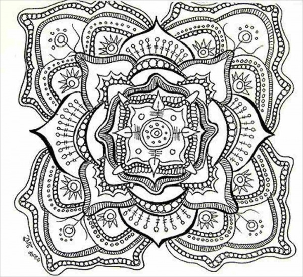 Abstract Coloring Page For Free