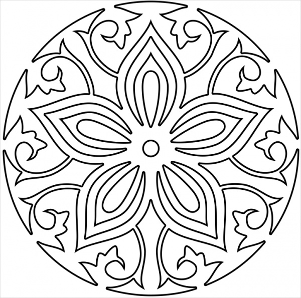 Abstract Circle Coloring Pages : Abstract circle coloring pages