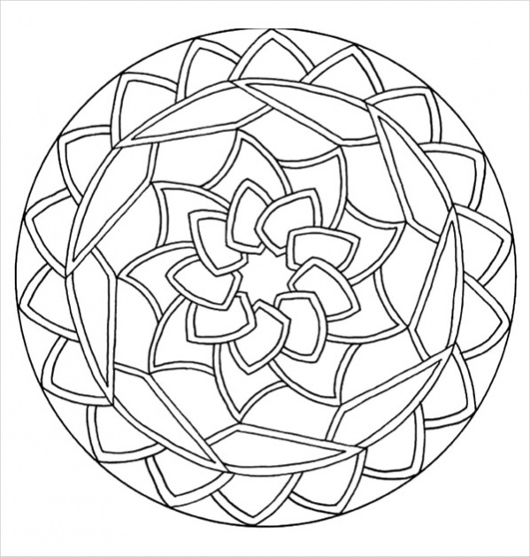 circle abstract coloring pages - photo#16