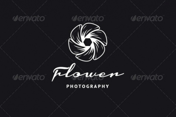 Abstract Flower Photography Logo