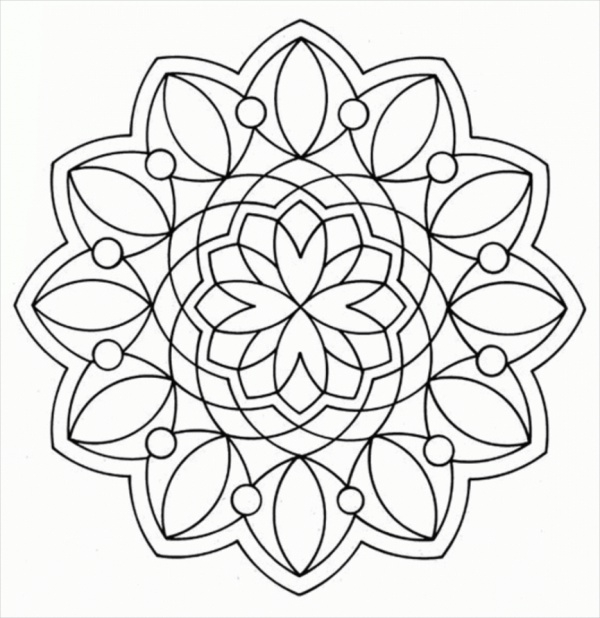 Revered image inside printable geometric coloring pages