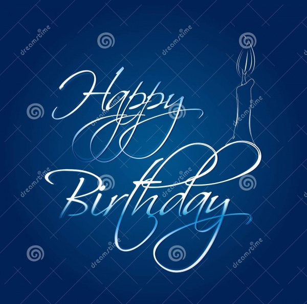 Abstract Happy Birthday Card
