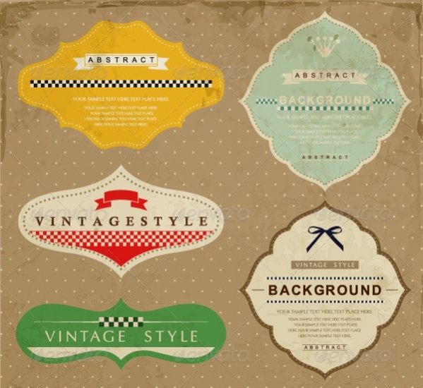 Abstract Vintage Labels