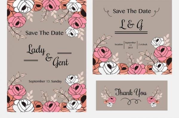 Affordable Vintage Wedding Invitation